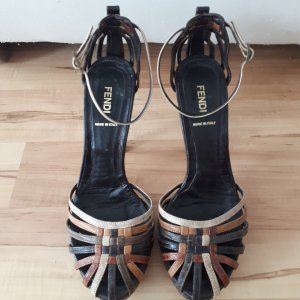 Sandalette von FENDI, Gr. 38,5, brauntöne