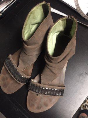 Sandalette von Replay, flach, hinten mit Reißverschluss