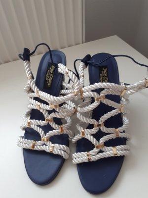 Juicy Couture Sandales à lanière blanc-bleu foncé