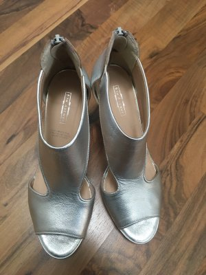 5th Avenue T-Strap Sandals silver-colored