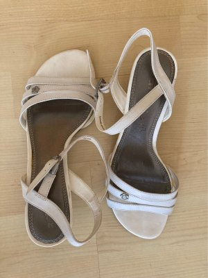 Tamaris Strapped High-Heeled Sandals white