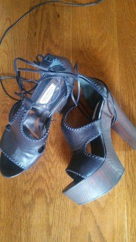 Dorothee Schumacher Platform High-Heeled Sandal blue leather