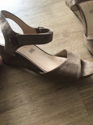 5th Avenue Wedge Sandals bronze-colored-camel