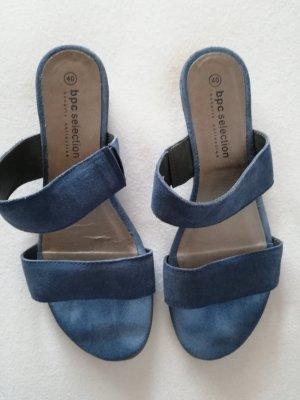 bpc Dianette sandalen korenblauw