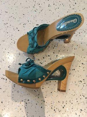 Graceland High Heel Sandal light brown-cadet blue