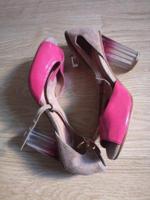 Sandaletten Absatz 37 pink Leder Sommerkind