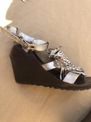 Air Step Sandales à talon haut argenté