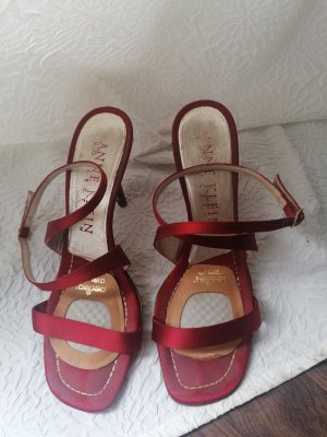 Anne Klein Strapped Sandals dark red