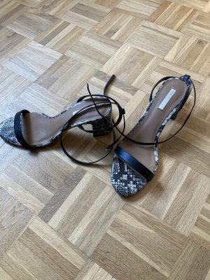 H&M Premium Sandales à talons hauts et lanière noir-gris