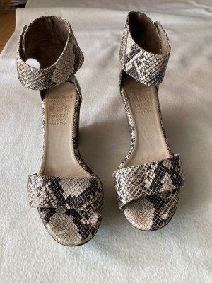 wonders Platform High-Heeled Sandal multicolored leather
