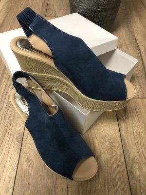 Arizona Sandales à talons hauts et plateforme bleu