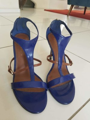 Charles & Keith Strapped High-Heeled Sandals blue-light brown mixture fibre