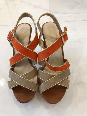 Catwalk Platform High-Heeled Sandal beige-orange
