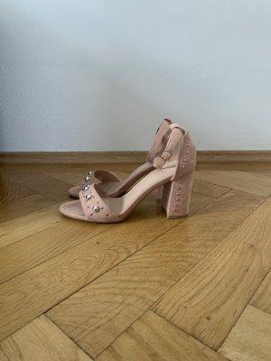 Sandaletten Blockabsatz Velours
