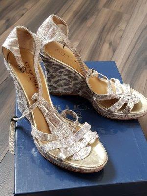 Cromia Hoge hakken sandalen goud-licht beige