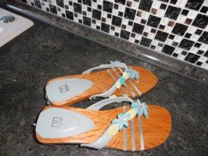 Jette Joop Wedge Sandals turquoise