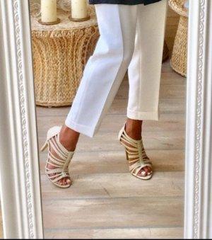 Sandaletten crème geflochten !
