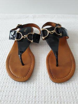 Kazar Sandały japonki z rzemykami czarny-brązowy