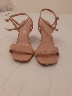 Next Strapped High-Heeled Sandals nude