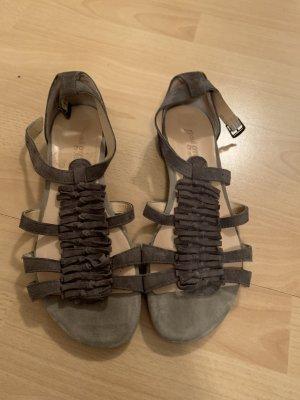 Paul Green München Sandales à talons hauts et lanière gris brun