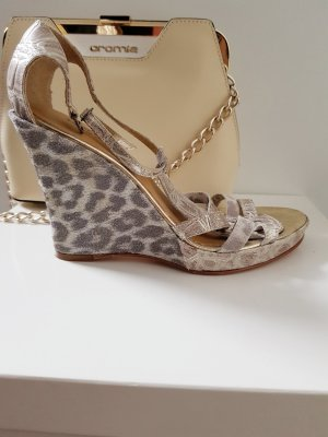 Cromia Platform High-Heeled Sandal grey-cream