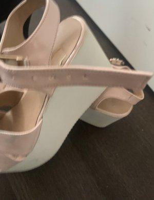 Emelda (Made in Turkey) Sandalias de tacón con plataforma blanco-rosa