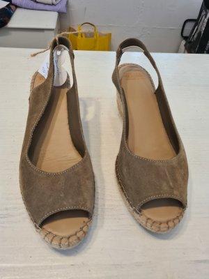 Fred de la bretoniere Platform High-Heeled Sandal grey-khaki
