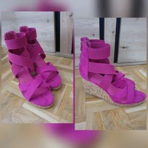 Deichmann Platform High-Heeled Sandal pink mixture fibre