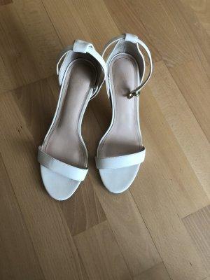 H&M Sandały na obcasie z rzemykami biały