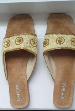T-Strap Sandals multicolored leather