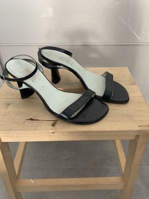 Sandaletten Högl schwarz 38,5 Leder 8cm