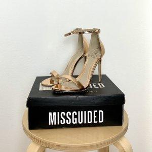 Sandaletten in Roségold