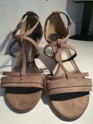 Sandaletten in Taupe Gr. 39 von Tamaris