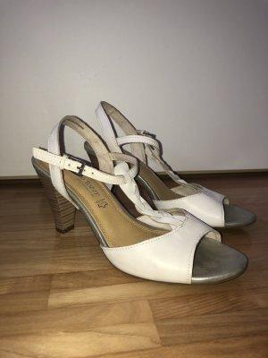 Sandaletten mit Flechtmuster