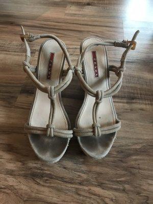 Sandaletten mit Keilabsatz von Prada