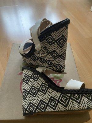 Zara Plateauzool Sandalen met Hoge Hakken wit