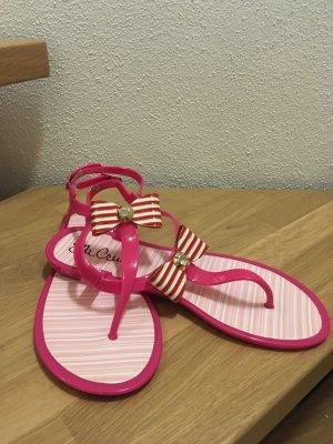 Sandaletten mit Schleife in pink