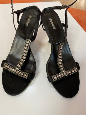 Sandaletten mit Strass Gr. 37