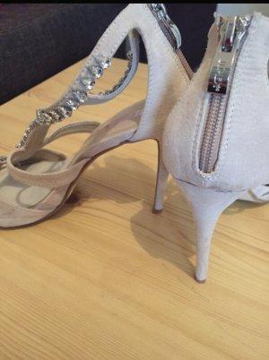 Sandaletten mit Straß, Gr  39