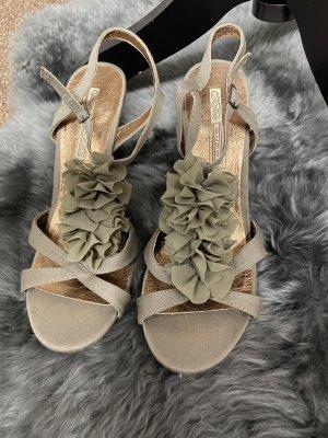 Buffalo London Hoge hakken sandalen khaki-olijfgroen