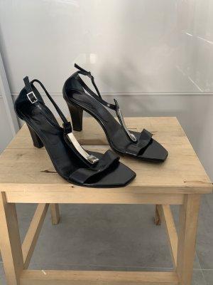 Sandaletten Oxitaly 37 schwarz edel 8cm