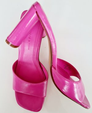 Sandaletten pink mit Absatz