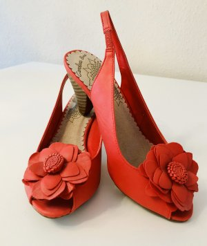 Sandaletten Pumps rot/orange