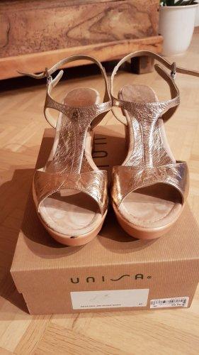 Sandaletten Sandalen gold wie neu Größe 40 Unisa