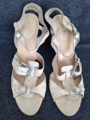 Cole Haan Strapped Sandals cream leather