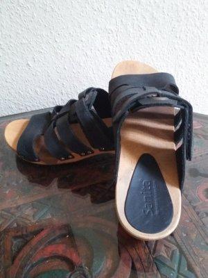 Sanita Sandalias tipo clog negro-marrón claro
