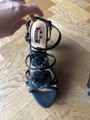 Sandaletten, schwarz, Gr. 41