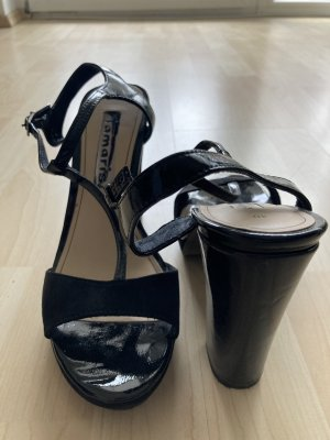 Sandaletten schwarz Materialmix