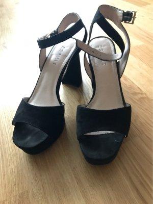 Sandaletten schwarz Plateau