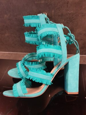 Guess Strapped High-Heeled Sandals turquoise